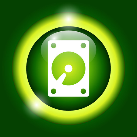 harddrive: hard disk icon. Vector illustrator