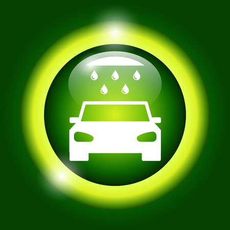 car wash, web icon. Flat vector design Illustration