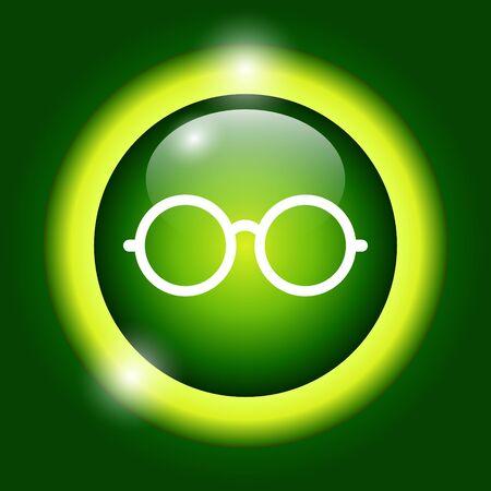 Glasses icon. Flat vector illustrator   Vector