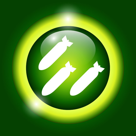 detonator: Air bomb vector icon. Flat vector illustrator