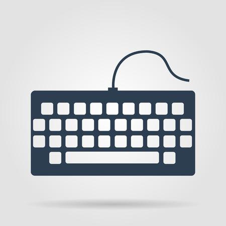 put the key: keyboard icon. Flat vector illustrator