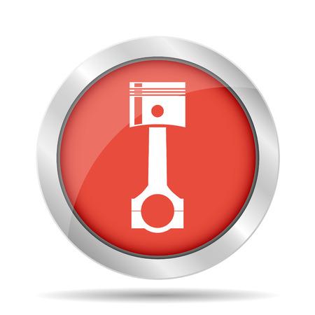illustrator  vector: Piston icon. Flat vector illustrator  Illustration