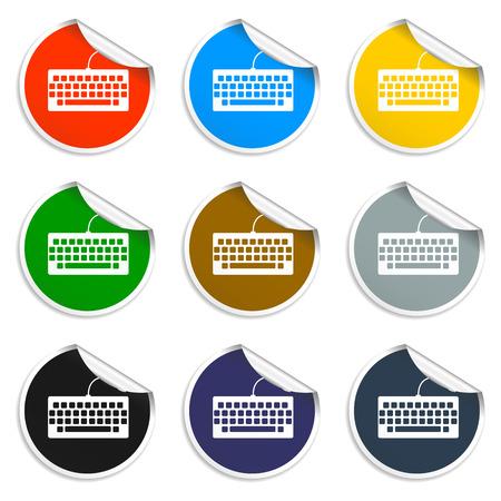 put the key: keyboard icon. Flat vector Illustration