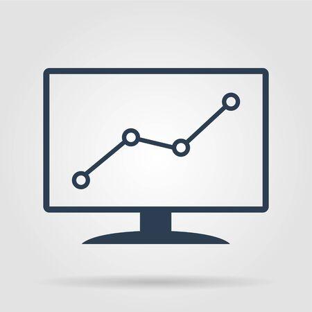 monitore: Computer-Monitore mit verschiedenen Graphen