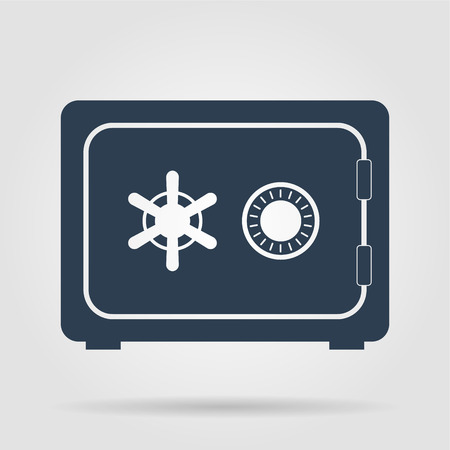 safe with money: Safe vector icon, vector eps 10 illustration