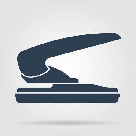 two hole paper puncher icon, vector illustration Vector