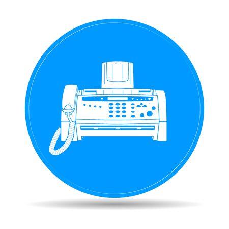 Fax-Symbol, EPS Vektor 10 Abbildung