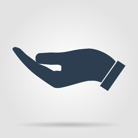 Vector protecting hands icon, isolated illustration EPS