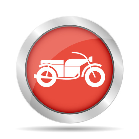 motorcycle icon, isolated vector eps 10 illustration Vector