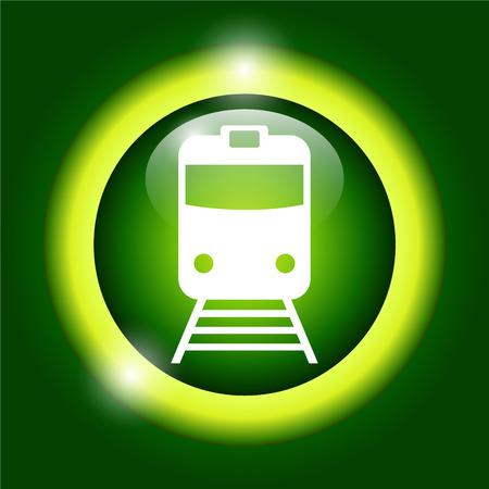 locomotion: Train icon, isolated vector eps 10 illustration