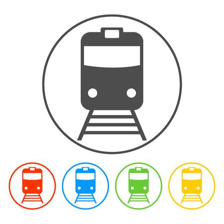 Icono de tren, aislado vector eps 10 ilustración Ilustración de vector