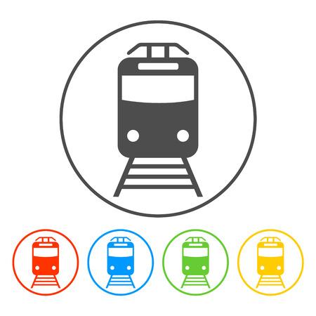 tren: Icono de tren, aislado vector eps 10 ilustraci�n