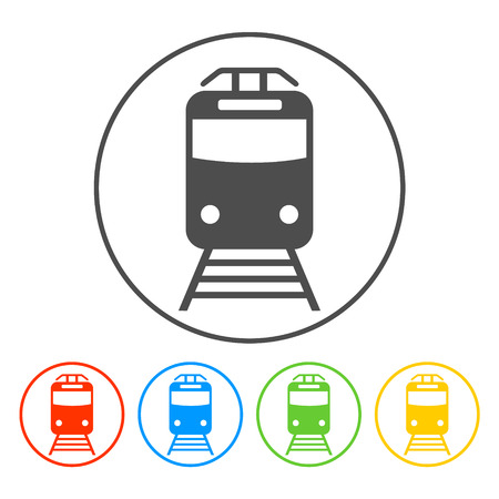 steam train: Train icon, isolated vector eps 10 illustration