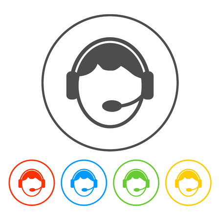 headphones icon: Support icon