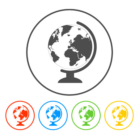 geography school earth globe web icon Vector