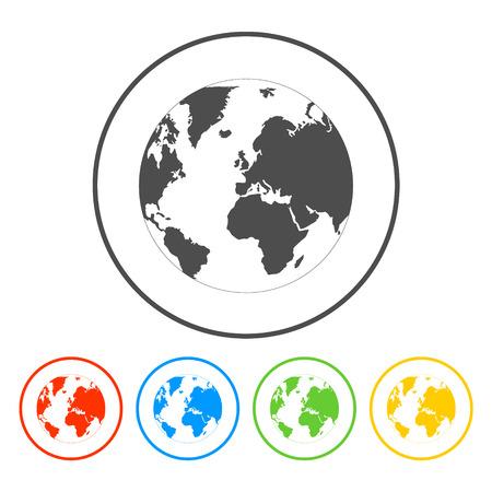Pictograph of globe 일러스트