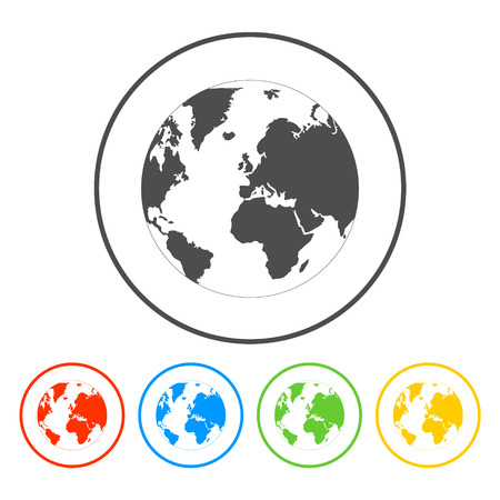 Pictograph of globe Stock Illustratie