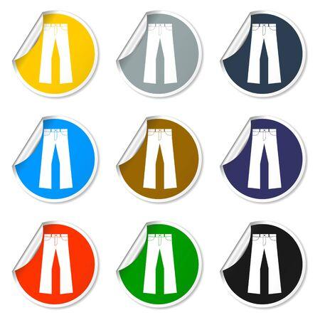 pants: Pants icons Illustration
