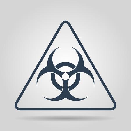 biological waste: Vector biohazard sign or icon, flat Illustration