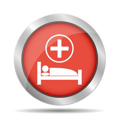 hospital bed: hospital bed, Vector flat Illustration