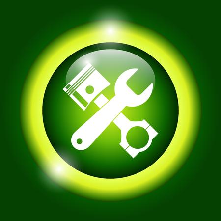 simbol: Service simbol. Repair singn. Vector flat Illustration