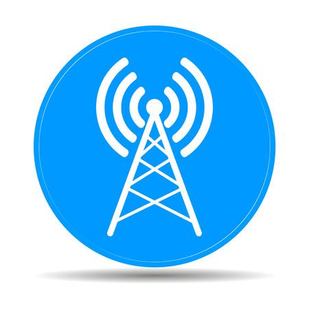 Antenna Icon, Vector Flat Illustration EPS 10 Royalty Free ...