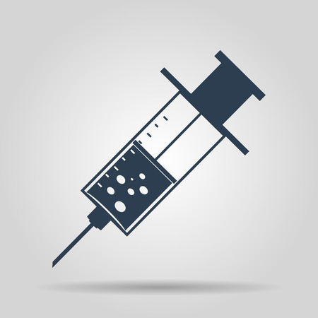 illustrator 10: Medical syringe. Vector icon illustrator EPS 10.