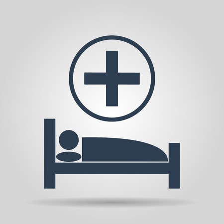 accident rate: hospital bed, Vector flat Illustration