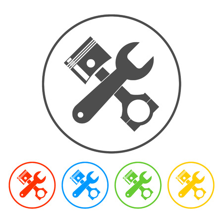 simbol: Simbol Service. Singn riparazione. Vector piatta illustrazione Vettoriali