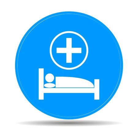 cama hospital: cama de hospital, Vector Ilustraci�n plana