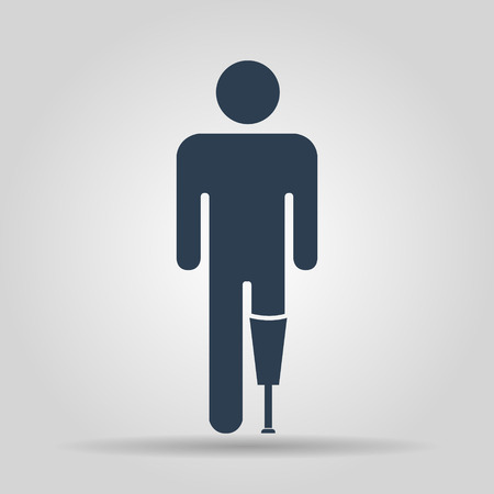 helplessness: prosthesis icon, Vector flat Illustration EPS 10 Illustration