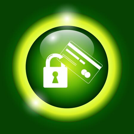blocked: Credit Card Security icon Illustration