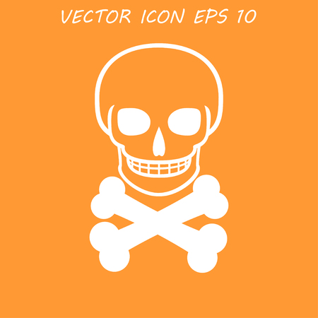 skull icon: Skull icon isolated.