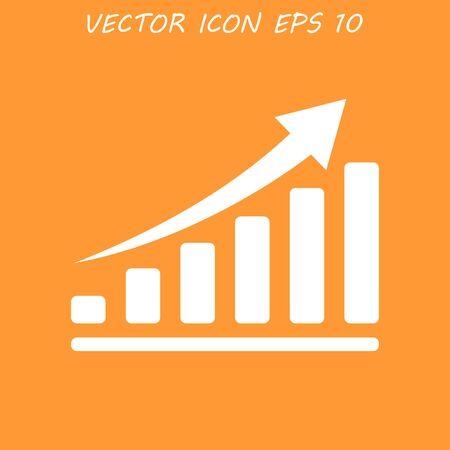 economic: Vector red economic icons.