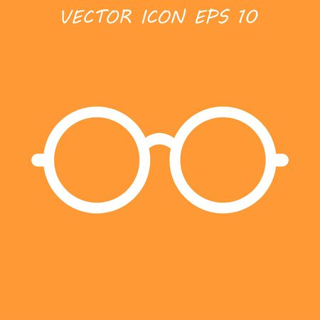 spectacle frame: Glasses icon. Flat vector illustrator