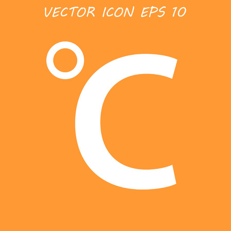 coldness: Vector icon Celsius.