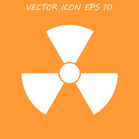 radiacion: símbolo de la radiación