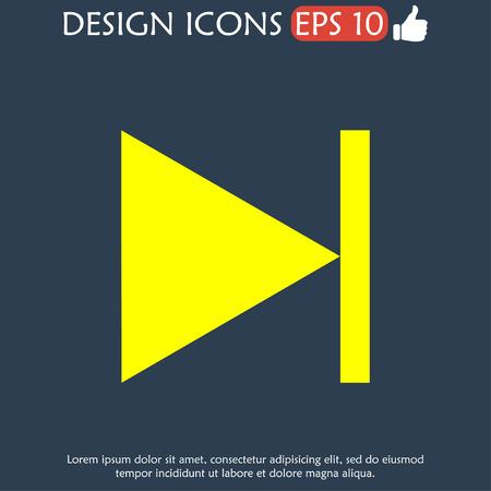 multimedia icon: Glossy multimedia icon  next track  Illustration