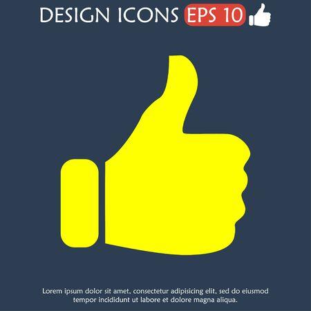 Like icon. Flat design style modern vector illustration Vector