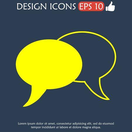 html5: Speech bubbles icon. vector illustration  Illustration