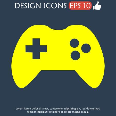 Game controller icon. Flat vector illustrator Eps Vector