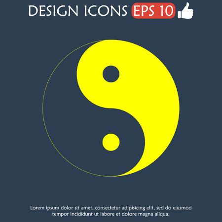 yin y yang: Símbolo de Yin Yang - Negro y Blanco Ilustración vectorial