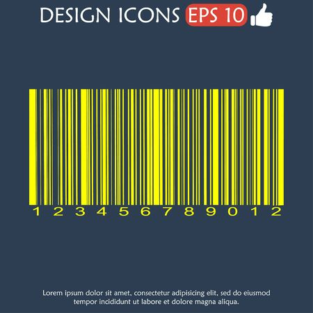 security code: Barcode icon, vector illustration.  Illustration