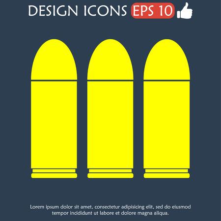 bullet icon: bullet icon. Vector icon illustrator EPS 10