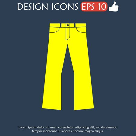 pants: Pants icon. Vector flat Illustration
