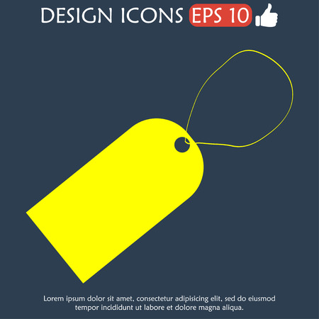 illustrator 10: tag icon, Flat vector illustrator Eps 10 Illustration