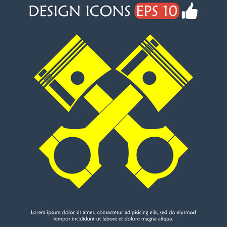 illustrator 10: Piston icon. Flat vector illustrator EPS 10