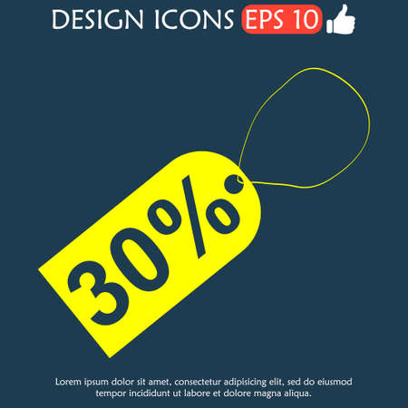 illustrator 10: tag icon, Vector flat Illustrator EPS 10