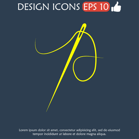 illustrator 10: Needle icon  Flat vector illustrator Eps 10