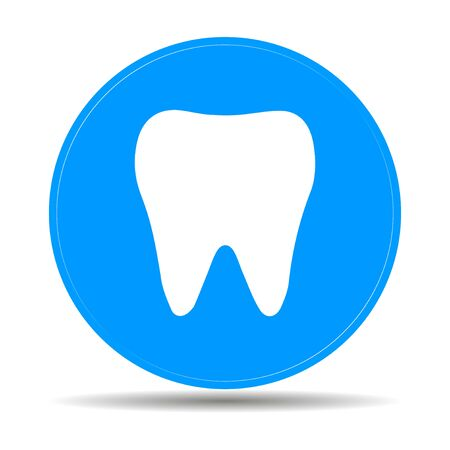 Tooth Icon. Flat design style